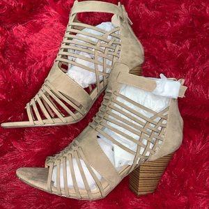 Size 11W Shoe Dazzle Taupe Heels